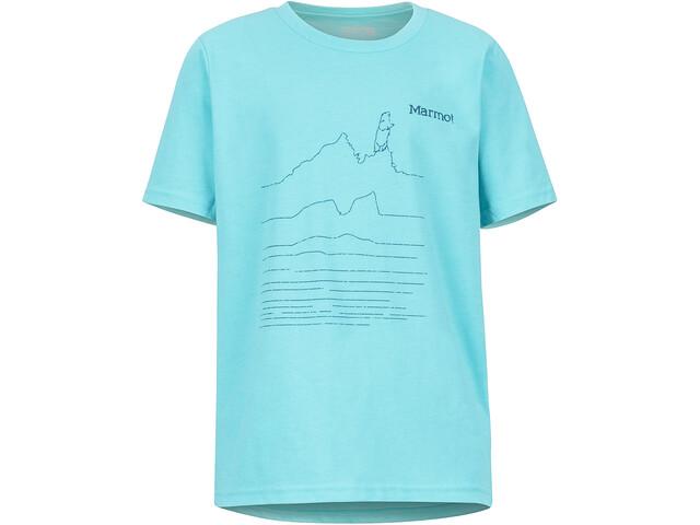 Marmot Purview SS Tee Pojkar tahiti blue heather